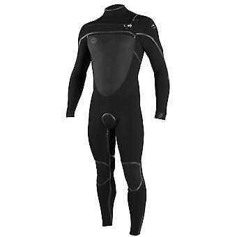 ONeill Black-Black Psycho Tech 5-4mm Long Sleeved Wetsuit