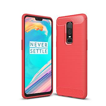 Oneplus 6 Carbon fiber Shell-Red