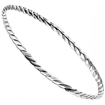 Begin geoxideerd Twist Bangle - zilver