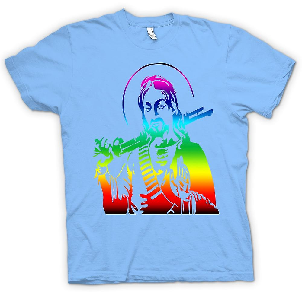 Mens T-shirt - Jesus With A Shotgun - Cool