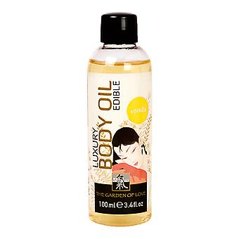 Body oil with vanilla scent