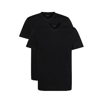 Boss 2-Pack Relaxed-Fit V-Neck T-Shirts, Black