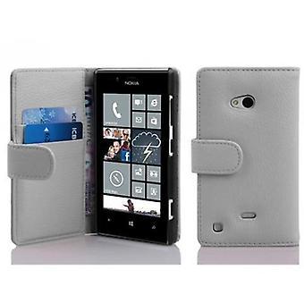 Cadorabo Hülle für Nokia Lumia 720 -Handyhülle aus strukturiertem Kunstleder mit Standfunktion und Kartenfach – Case Cover Schutzhülle Etui Tasche Book Klapp Style