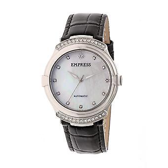 Kaiserin Francesca automatische MOP Leder-Band Uhr - schwarz
