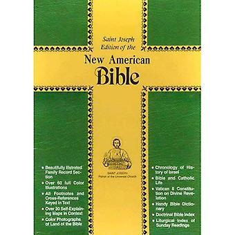 Bible de cadeau de Saint-Joseph, Personal Edition taille: New American Bible (NAB), similicuir blanc
