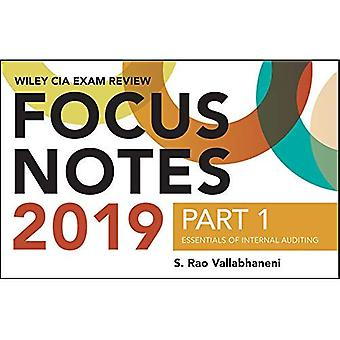 Wiley CIA Exam Review 2019� Focus Notes, Part 1: Essentials of Internal Auditing (Wiley CIA Exam Review Series) (Wiley CIA Exam Review Series)