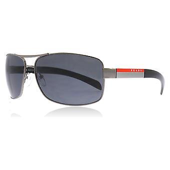 Prada Sport 54IS 5AV5Z1 Gunmetal 54IS Square Sunglasses Polarised Lens Category 3 Size 65mm