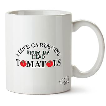 Hippowarehouse ik hou van tuinieren uit mijn hoofd tomaten 10 oz mok Cup