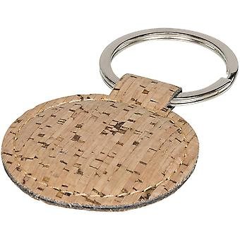 Bullet Cork Look Rounded Keychain