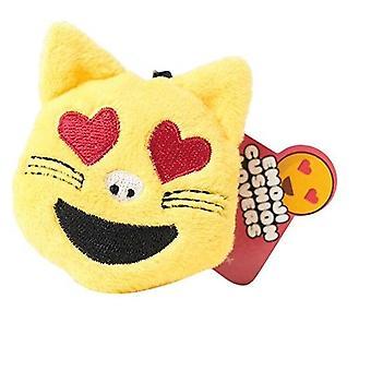 Love Cat Emoji Plush Key Ring
