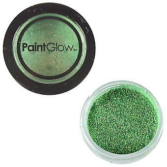 PaintGlow Glitter Shaker Holographic Green & Fixative Gel