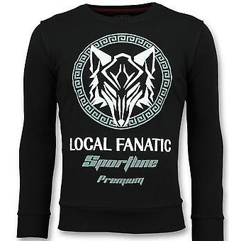 Sportline Wolf-Sturdy sweatshirt men-6357Z-Black