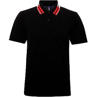 Asquith & Fox - Two Colour Tipped Polo Shirt