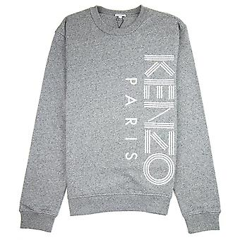 Kenzo Side Paris Logo Sweatshirt Marl Grey