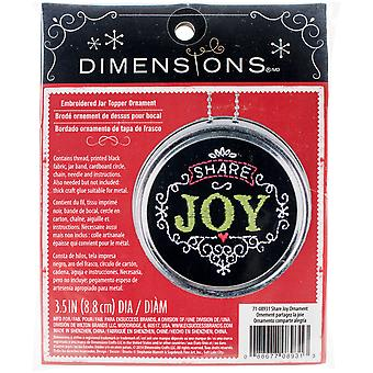 Share Joy Ornament Stamped Embroidery Kit 3.5