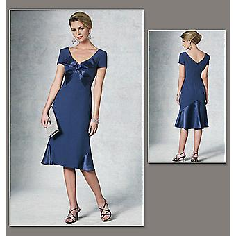 Misses' Dress  Aa 6  8  10  12 Pattern V1196  Aa0