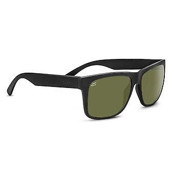 Serengeti Positano Sunglasses (Satin Black Frame Polarized 555nm Lens)