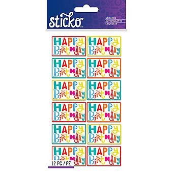 Sticko Stickers-Birthday Sentiments E5201393