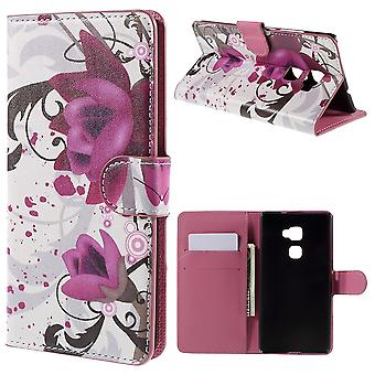 Kapot PU leather flowers cover for Ascend Huawey Mate's supported and door cards