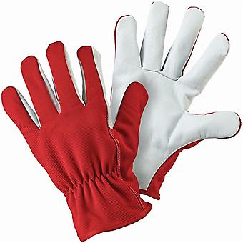 Briers Lined Dual Red Leather Gardening Gloves - Medium