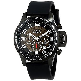 Invicta Men's 13807 Specialty Chronograph Black Dial Black Polyurethane Watch