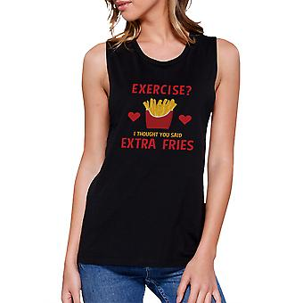Extra Fries Work Out Muscle Tee Women's Workout Tank Sleeveless Top