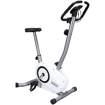 Charles Bentley Indoor Magnetic Exercise Bike Cardio Fitness Home Workout Weight Loss Machine - White