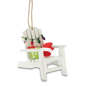 Coastal Beach Adirondack Chair Christmas Tree Holiday Ornament