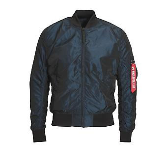 ALPHA INDUSTRIES Bomberjacke MA-1 LW | Iridium Rep blau