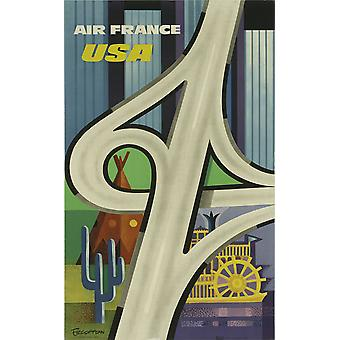 Air France USA Poster Print Giclee