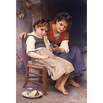 William Bouguereau - Little Sulky (1888) Poster Print Giclee