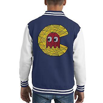 PacMan Polygon Stainglass Kid Varsity Jacket