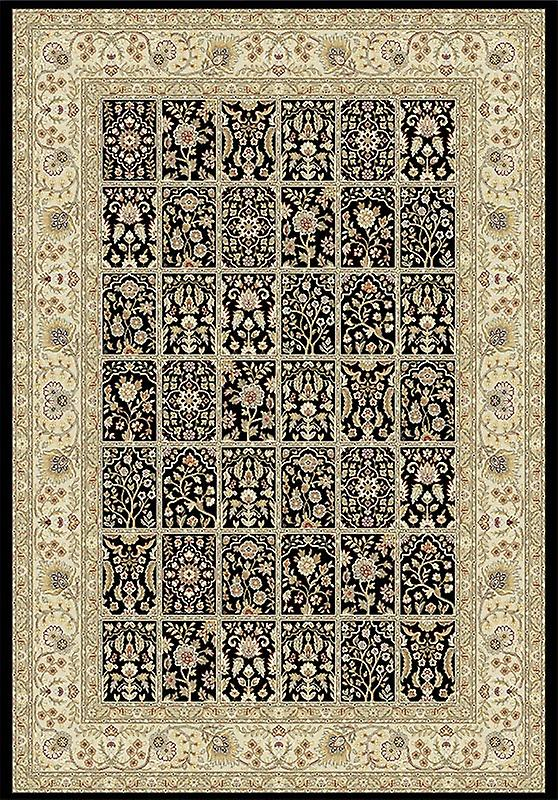 Rugs - Viscount - Black & Beige V59