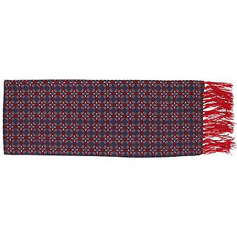 Michelsons of London Narrow Bold Medallion Silk Scarf - Red