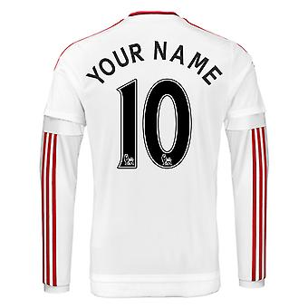 2015-2016 Man Utd Long Sleeve Away Shirt (Your Name)