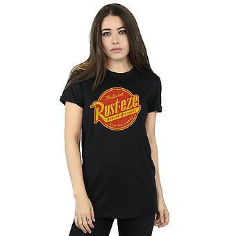 Disney Women's Cars Rust-Eze Logo Boyfriend Fit T-Shirt