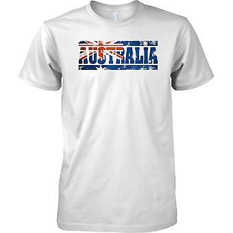 Australien-Grunge Land Name Flag-Effekt - Kinder T Shirt