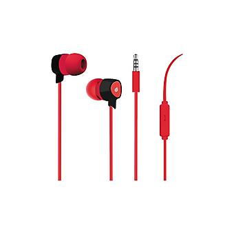 PURO Prism Stereo In-Ear Headphones, Red
