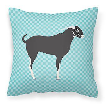 Bengala negra cabra azul cheque tejido decorativo de la almohadilla