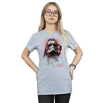 Star Wars Women's The Last Jedi Captain Phasma Brushed Boyfriend Fit T-Shirt