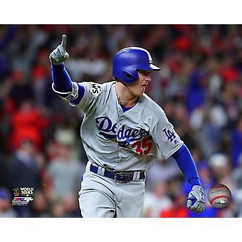Cody Bellinger RBI Double Game 4 van de 2017 World Series foto afdruk