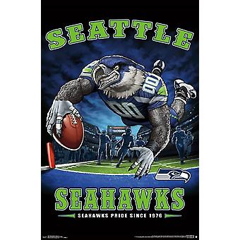 Seattle Seahawks - End Zone Poster Print