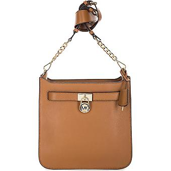 Michael Kors Hamilton Medium Leather Messenger - Acorn - 30T7GHMM2L-532