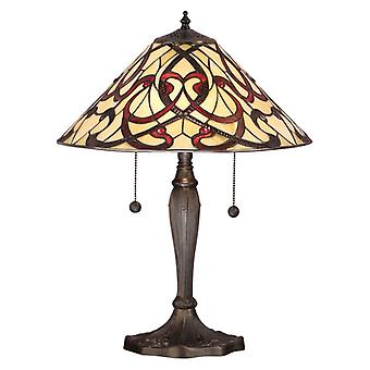 Ruban Medium Tiffany stil bordslampa - interiör 1900 64321