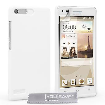 Yousave accessoires Huawei Ascend G6 harde Hybrid Case - wit