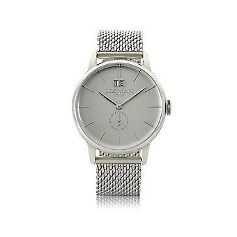 Locman men's 0252V0600AGNKB0 silver steel watch