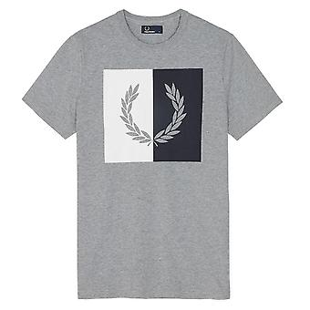 Fred Perry men's M2525420 grey cotton T-Shirt
