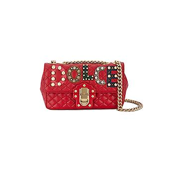 Dolce E Gabbana women's BB6344AI48980303 red leather shoulder bag