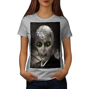 Alien UFO Mystic Fantasy Women GreyT-shirt | Wellcoda