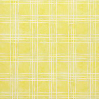 Designers Guild Yellow Wallpaper Roll - Vinyl Criss Cross Design - P266-02
